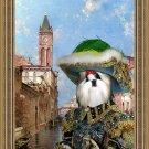 Shih Tzu Fine Art Canvas Print - Rio St Barnaba Venice