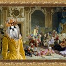 Shih Tzu Fine Art Canvas Print - The queen and and her fools