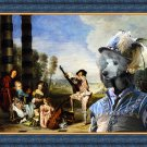 Standard Poodle Fine Art Canvas Print - Optional afternoon play