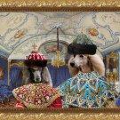 Standard Poodle Fine Art Canvas Print - Emperor and Empress in Blue room