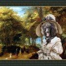 Standard Poodle Fine Art Canvas Print - Passage with noble Lady