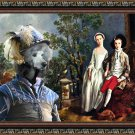 Standard Poodle Fine Art Canvas Print - Portrait brother and sister