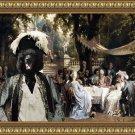 Standard Poodle Fine Art Canvas Print - The Garden Party