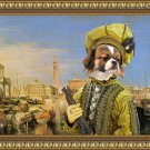 Tibetan Spaniel Fine Art Canvas Print - The hard negotiator in Venice
