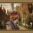 Tibetan Spaniel Fine Art Canvas Print - A Dutch street with Duke
