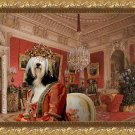 Tibetan Terrier Fine Art Canvas Print - Interiors of the Winter Palace