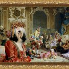 Tibetan Terrier Fine Art Canvas Print - The madam and joyfull friends