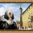 Tibetan Terrier Fine Art Canvas Print - Renaissance Palace with noble Lady