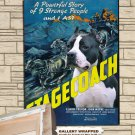 American Staffordshire Terrier Poster Canvas Print  -  Stagecoach  Movie Poster