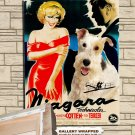 Fox Terrier Wire Poster Canvas Print  -  NIAGARA Movie Poster