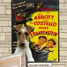 Fox Terrier Wire Poster Canvas Print  -  ABBOTT AND COSTELLO Movie Poster