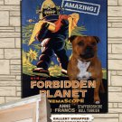 Staffordshire Bull Terrier Poster Canvas Print  -  Forbidden Planet Movie Poster