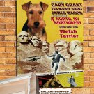 Welsh Terrier Poster Canvas Print  -  North by Northwest Movie Poster
