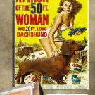 Dachshund Poster Canvas Print  -  Attack of the 50 Foot Woman