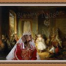 Dachshund Miniature Smoothaired Fine Art Canvas Print - Actors Before a Performance