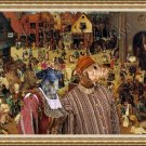 Dachshund Miniature Wirehaired Fine Art Canvas Print - The Combat of Carnival