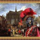 Dachshund Standard Longhaired Fine Art Canvas Print - The waiting Cardinal