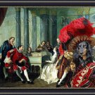 Dachshund Standard Longhaired Fine Art Canvas Print - Sextet
