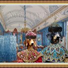 Dachshund Standard Smoothaired Fine Art Canvas Print - The Dressing Room of Empress