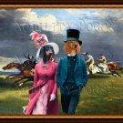 Dachshund Standard Smoothaired Fine Art Canvas Print - Derby in Epsom