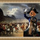 Dachshund Standard Smoothaired Fine Art Canvas Print - Napoleon at the Parade