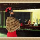 Dachshund Standard Smoothaired Fine Art Canvas Print - Nighthawks