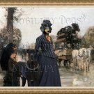 Dachshund Standard Smoothaired Fine Art Canvas Print - Waiting for the diligence