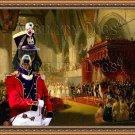 Dachshund Standard Smoothaired Fine Art Canvas Print - The Coronation