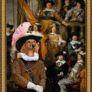 Dachshund Standard Smoothaired Fine Art Canvas Print - The meeting musketeers