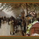 Dachshund Standard Smoothaired Fine Art Canvas Print - Greeting before leaving