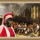 Dachshund Standard Smoothaired Fine Art Canvas Print - Village celebrations