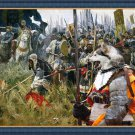 Alaskan Malamute Fine Art Canvas Print - Raging troops before the battle
