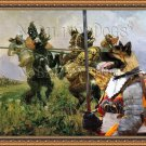 American Akita Fine Art Canvas Print - The contest