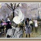 American Akita Fine Art Canvas Print - The Flower Market Copenhagen