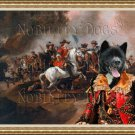 American Akita Fine Art Canvas Print - A skirmish between Christian and Osman horsemen