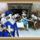 Canaan Dog Fine Art Canvas Print - Good Health and Good Fortune