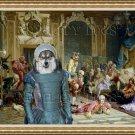 Finnish Lapphund Fine Art Canvas Print - The madam and joyful friends