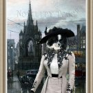German Spitz Fine Art Canvas Print - Lady in the Square