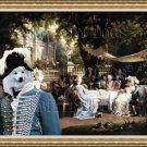 German Spitz Fine Art Canvas Print - The Garden Party