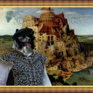 German Spitz Fine Art Canvas Print - The Tower of Babel