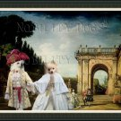German Spitz Fine Art Canvas Print - View of the Villa Ludovisi Park in Rome