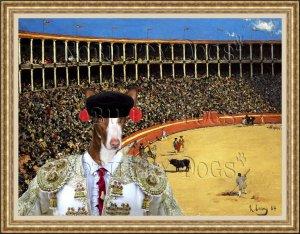 Ibizan Hound Smoothaired Fine Art Canvas Print - Ole!