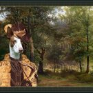 Ibizan Hound Smoothaired Fine Art Canvas Print - Hunters in the Forest