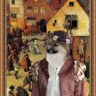 Icelandic Sheepdog Fine Art Canvas Print - Detail from village celebration