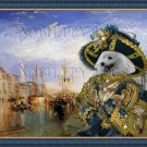 Japanese Spitz Fine Art Canvas Print - The Grand Canal, Venice