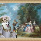 Japanese Spitz Fine Art Canvas Print - The Bride is Courted