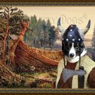 Karelian Bear Dog Fine Art Canvas Print - Old Viking ship