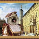 Keeshond Fine Art Canvas Print - Renaissance Palace with noble Lady