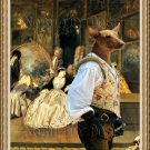 Mexican Hairless Dog Fine Art Canvas Print - The last Auction