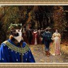 Norwegian Buhund Fine Art Canvas Print - Les Fiances